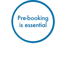 Pre-booking is essential