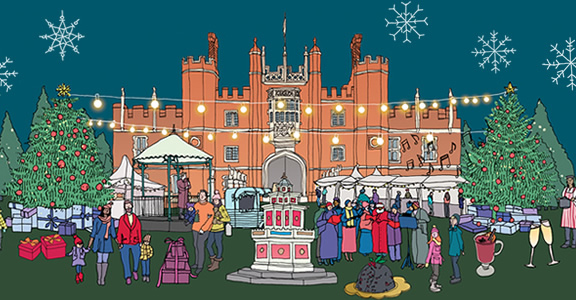 Hampton Court Palace illustration