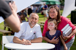 Michel Roux Jr with visitors