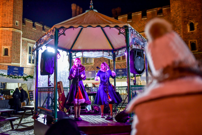 Live entertainment at Hampton Court Palace Festive Fayre