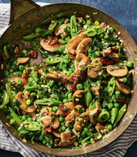 Herby Mushrooms and Greens  picture