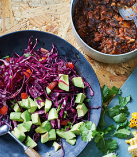 Picture of Mexican Black Bean Chilli Bowl