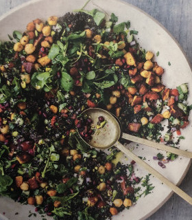 Spiced halloumi & chickpeas with black quinoa tabbouleh picture