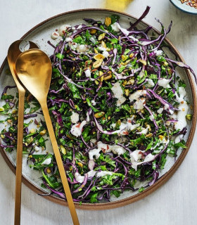 Pistachio, fennel & red cabbage slaw  picture